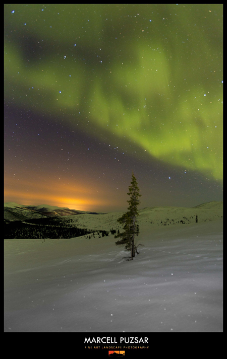 Alaska Northern Lights from Twelvemile summit