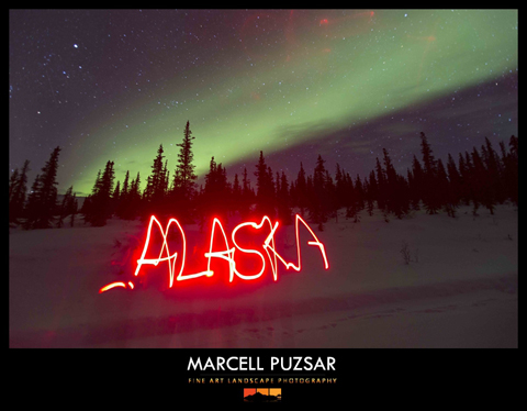 Aurora in alaska with red light