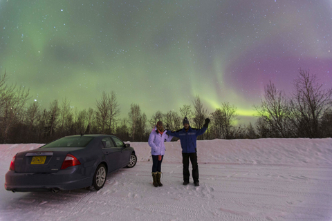 aurora viewing in Fairbanks, Alaska